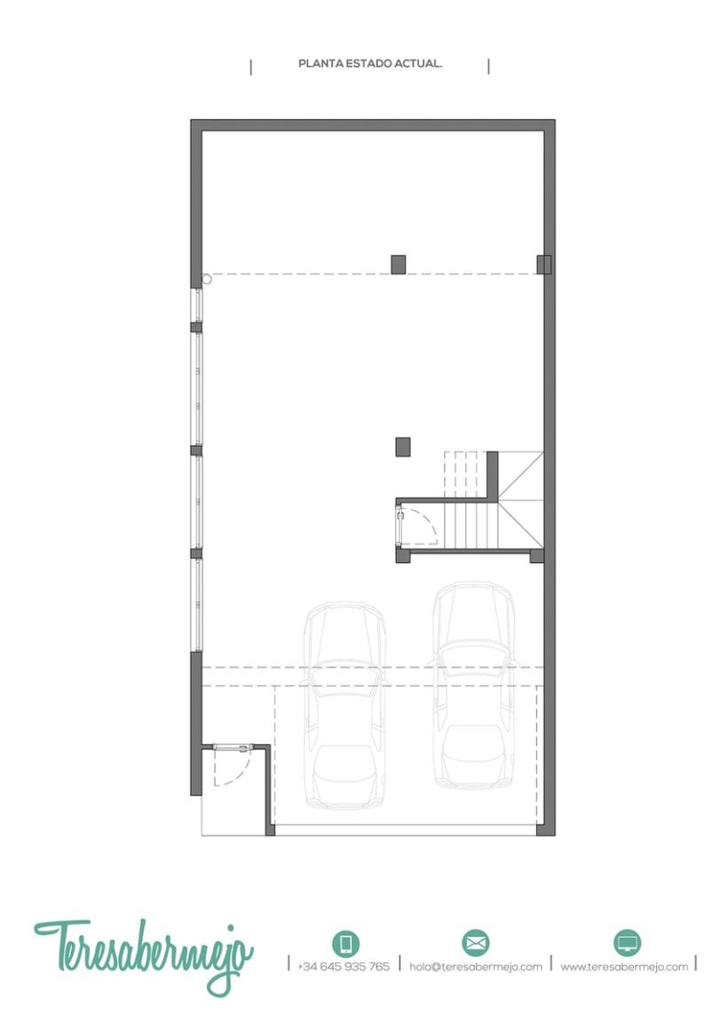 Estudio de distribución del sótano de Lidia | Domestika