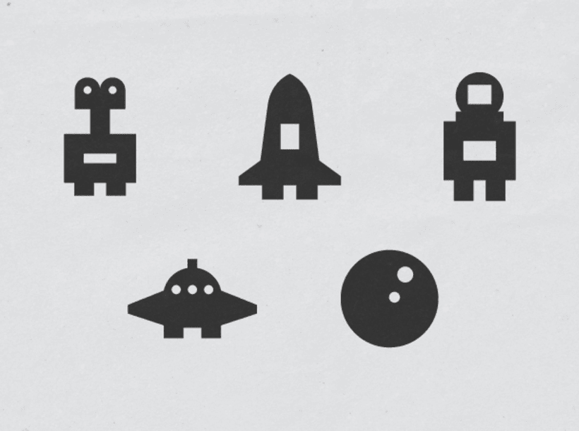 Space stamps set. Work in progress. -1