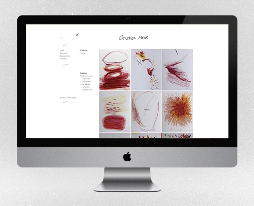 Fotografías para la web de la artista contemporánea Cristina Mur  1