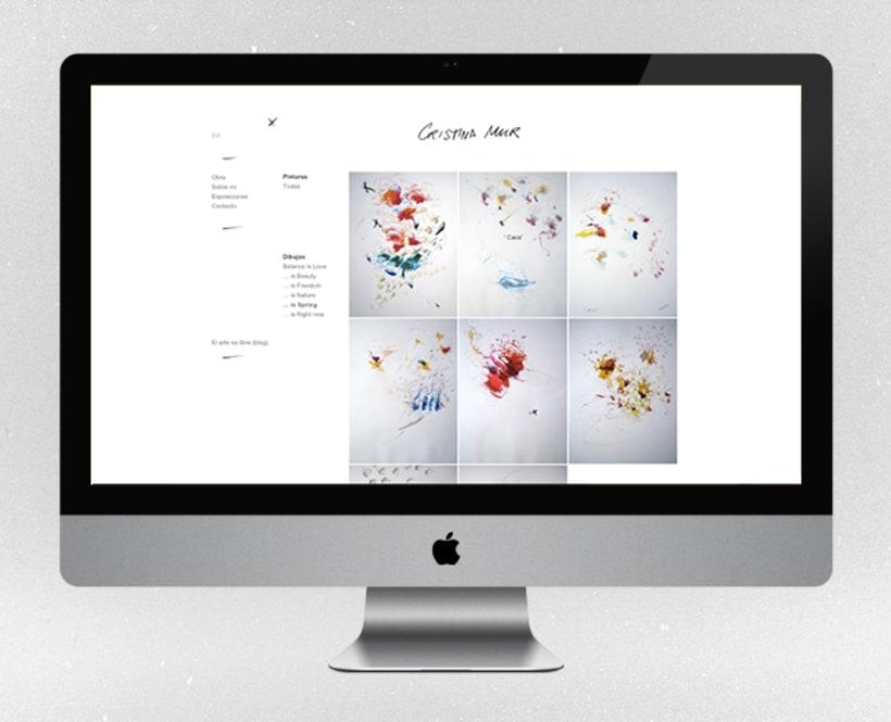 Fotografías para la web de la artista contemporánea Cristina Mur  2