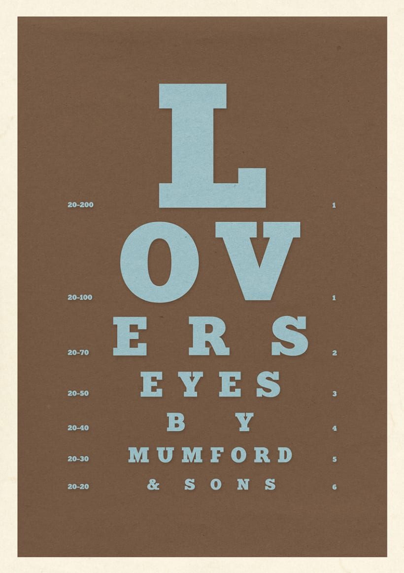 "Mumford & Sons ""Lover's Eyes"" 0"