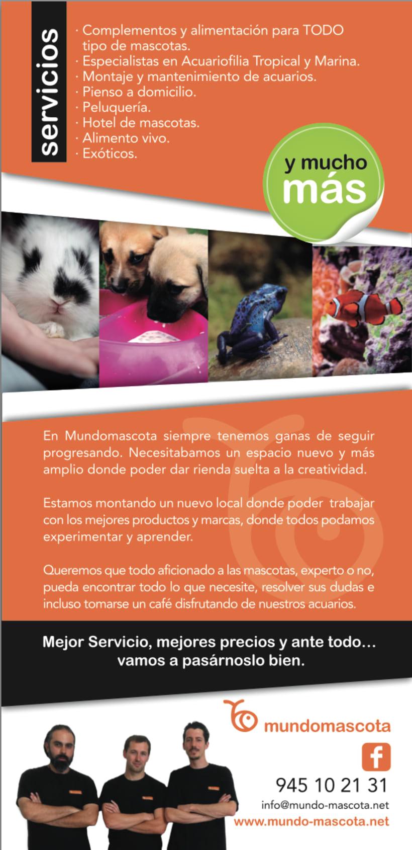 Diseño flyer para Mundomascota 0