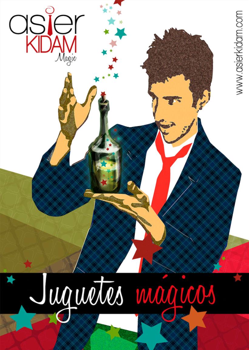 Diseño de cartel para espoectáculo de magia -1