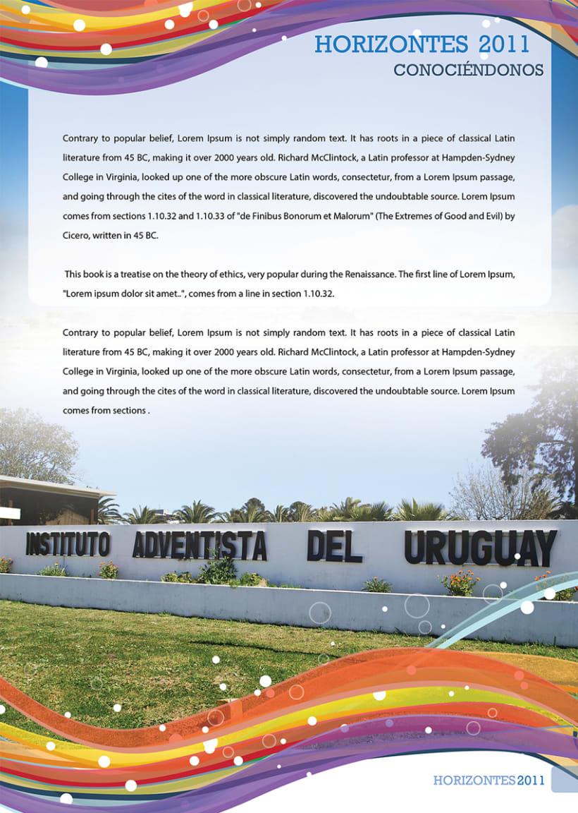 "Anuario 2011 del Instituto Adventista del Uruguay ""Horizontes"" -1"