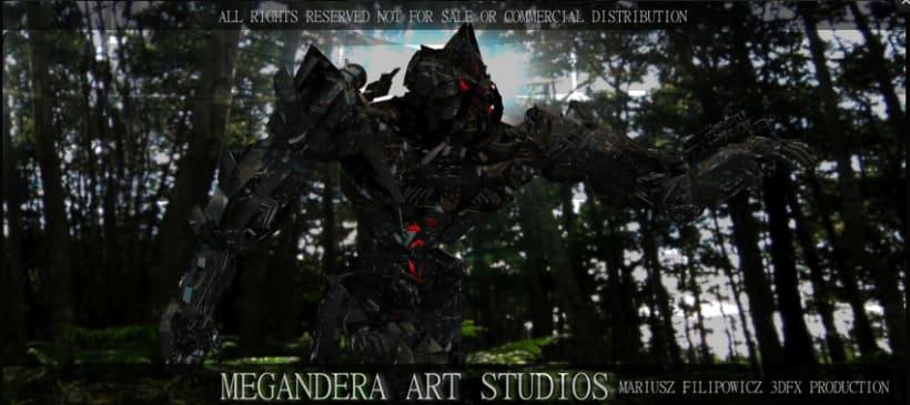 Alien woman Transformer robot pilot All Rights Reserved Mariusz Filipowicz Megandera Art Studios 3
