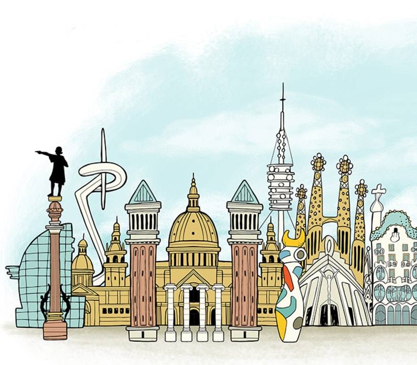 Barcelona Skyline 0
