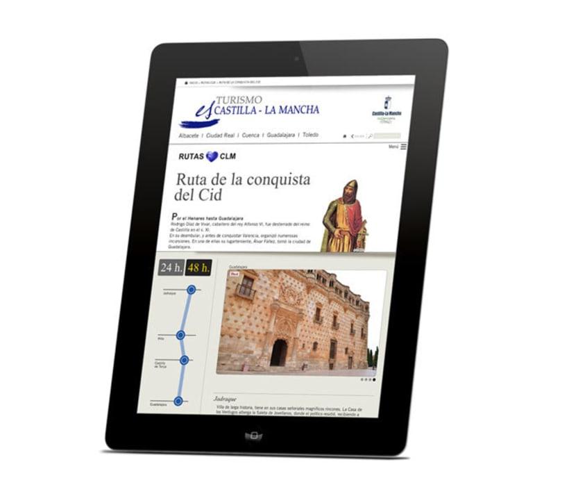 "Diseño web ""rutas"" Portal Turismo Castilla la Mancha 1"
