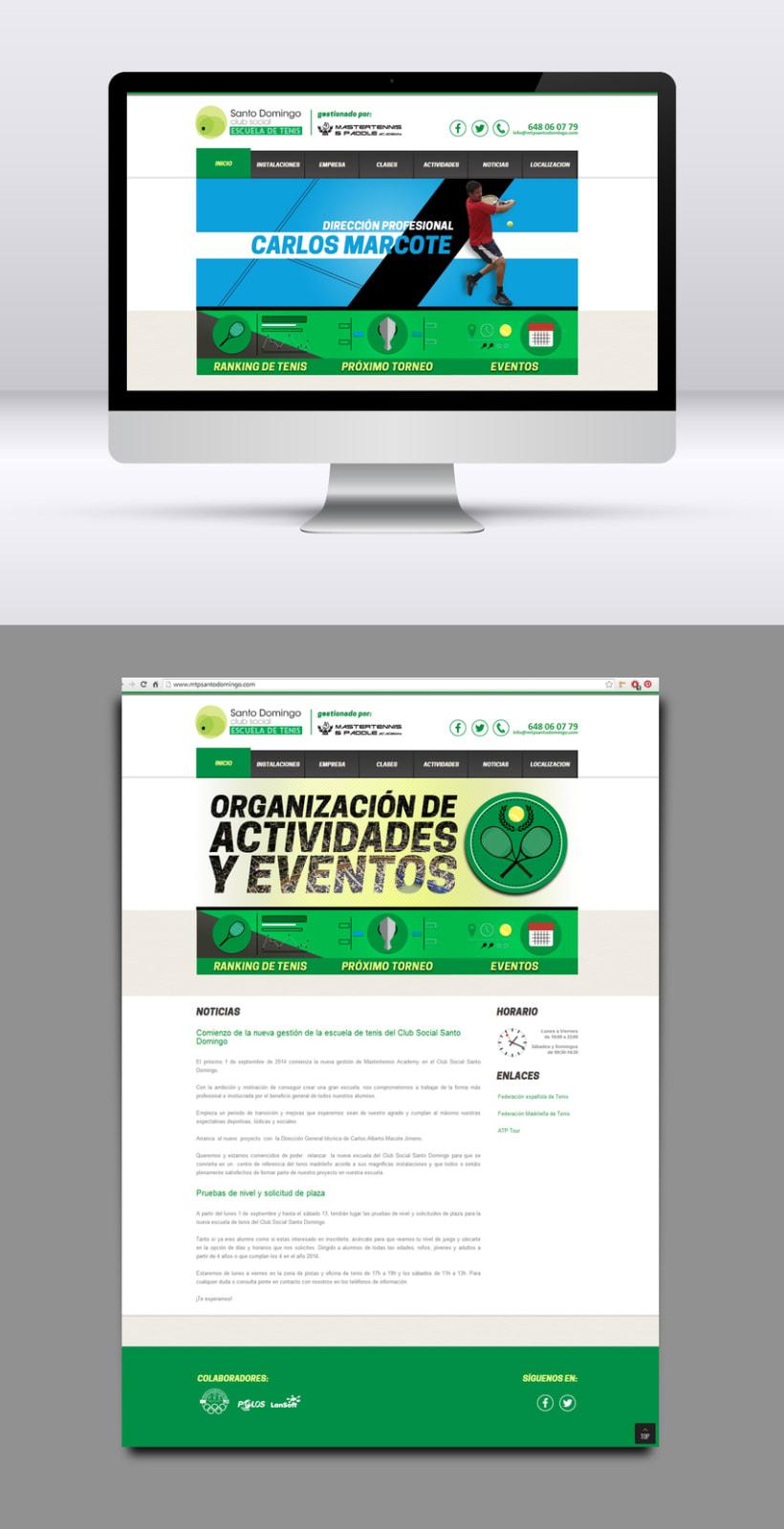 Escuela de tenis. Diseño web. 0