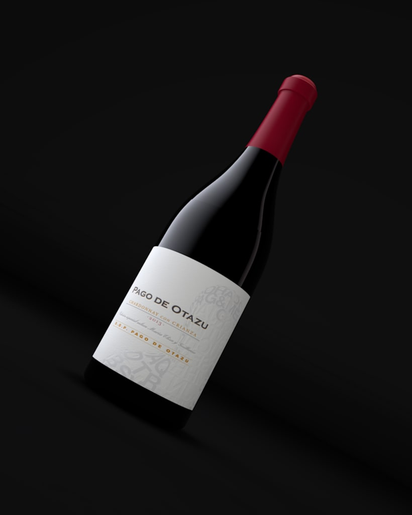 Diseño Etiquetas Vino Otazu & Infografías 3D 2