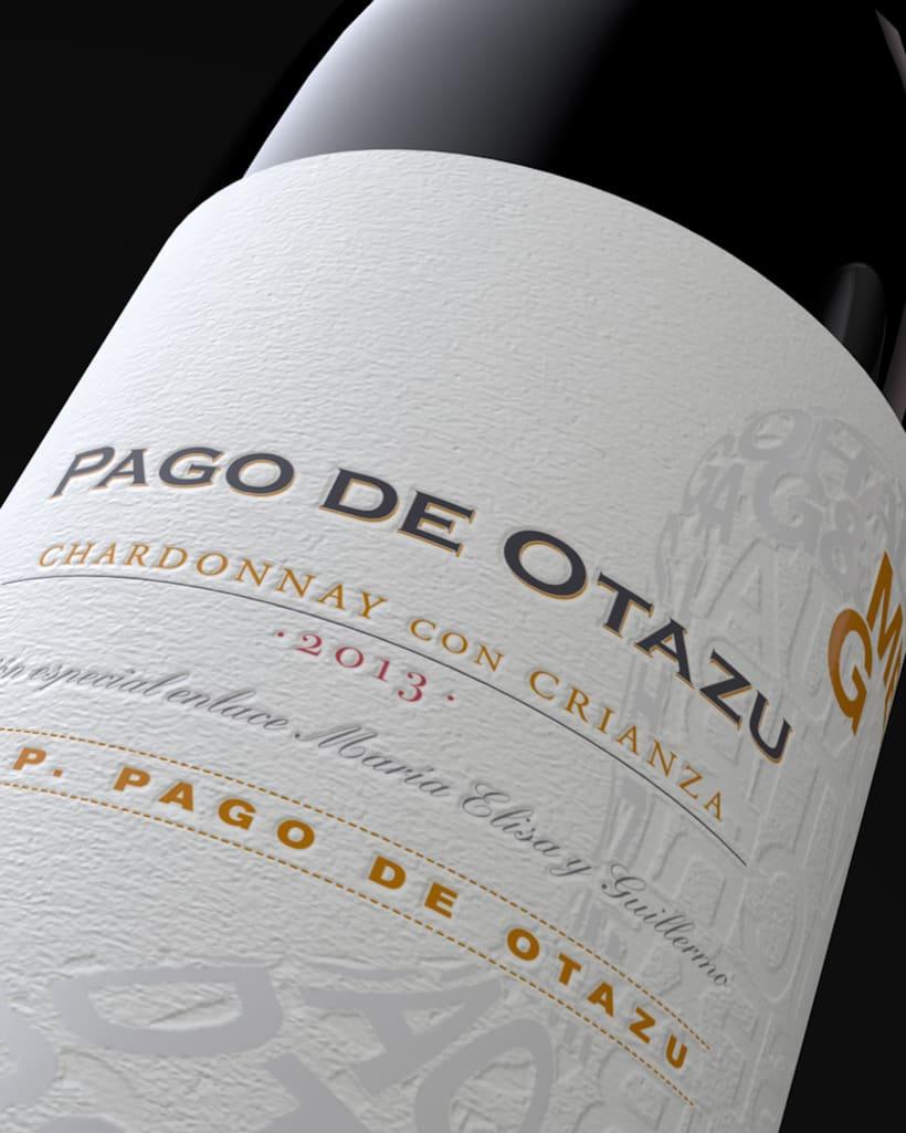 Diseño Etiquetas Vino Otazu & Infografías 3D 4