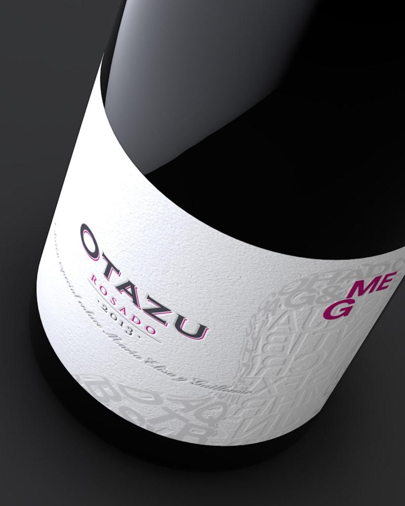 Diseño Etiquetas Vino Otazu & Infografías 3D 6