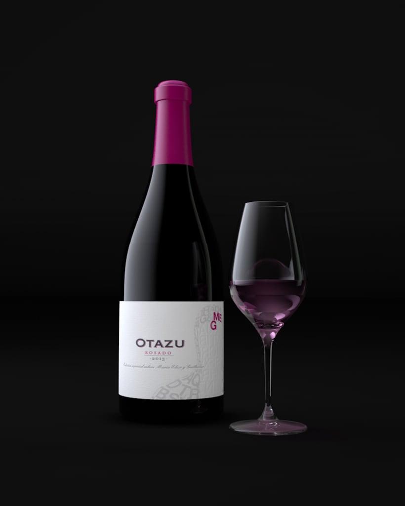 Diseño Etiquetas Vino Otazu & Infografías 3D 5