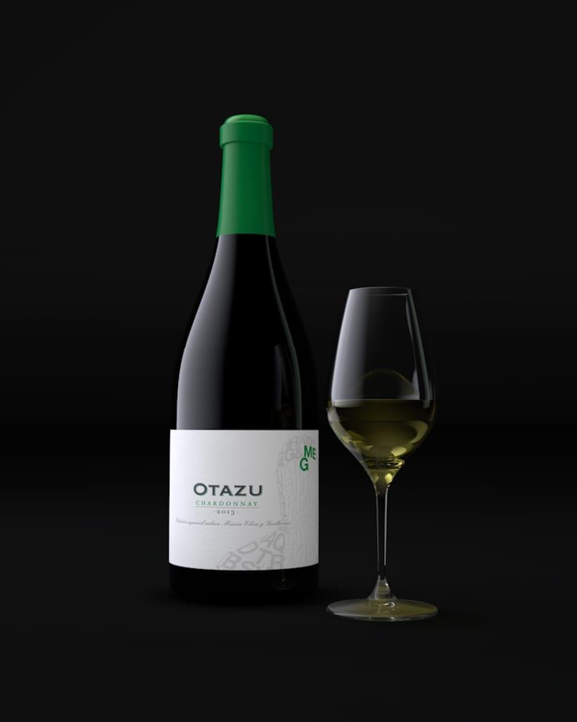 Diseño Etiquetas Vino Otazu & Infografías 3D 7