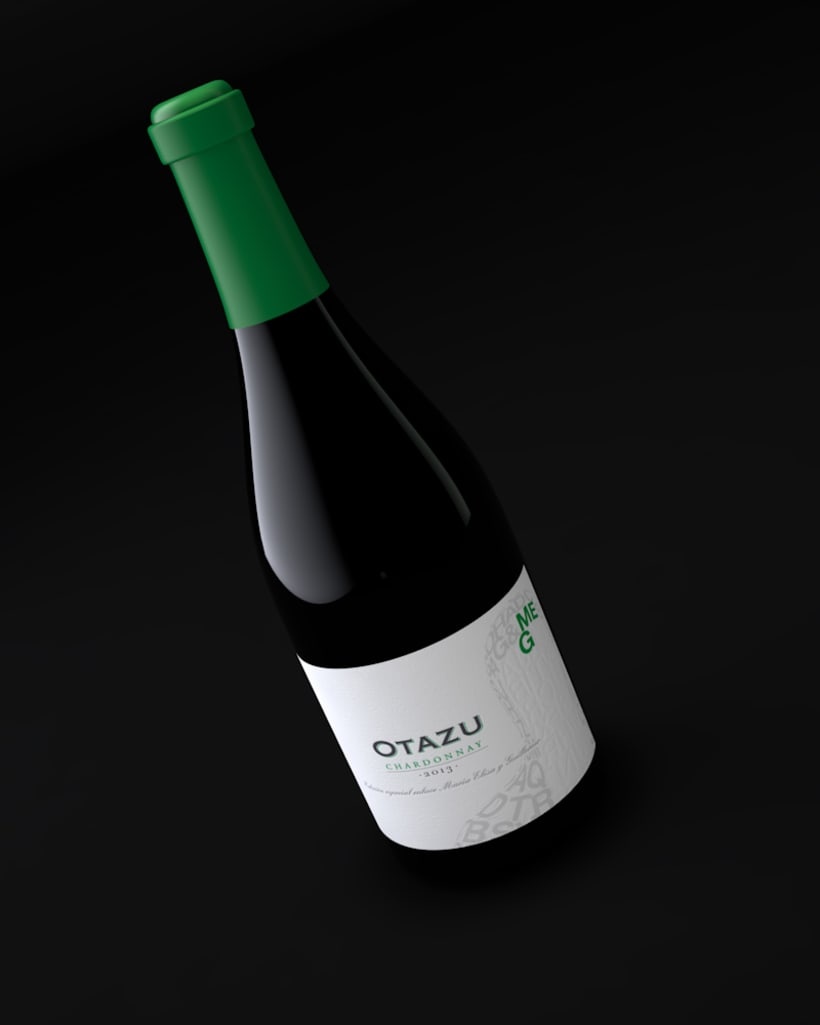 Diseño Etiquetas Vino Otazu & Infografías 3D 8