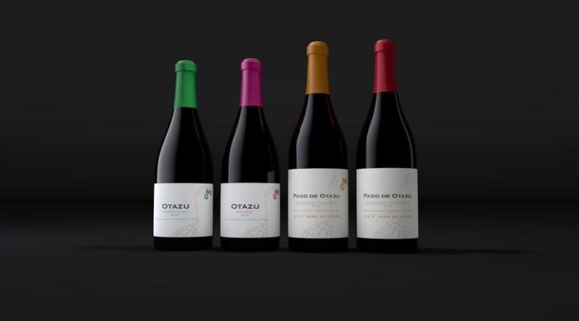 Diseño Etiquetas Vino Otazu & Infografías 3D 9