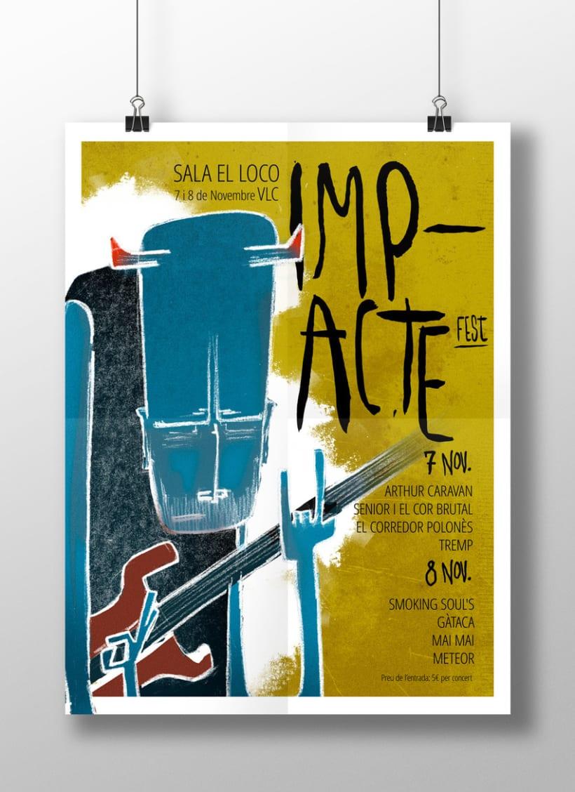 Gráfica y cartel para el festival ImapcteFest -1
