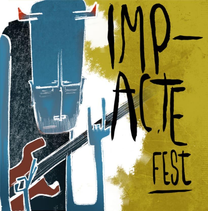 Gráfica y cartel para el festival ImapcteFest 1