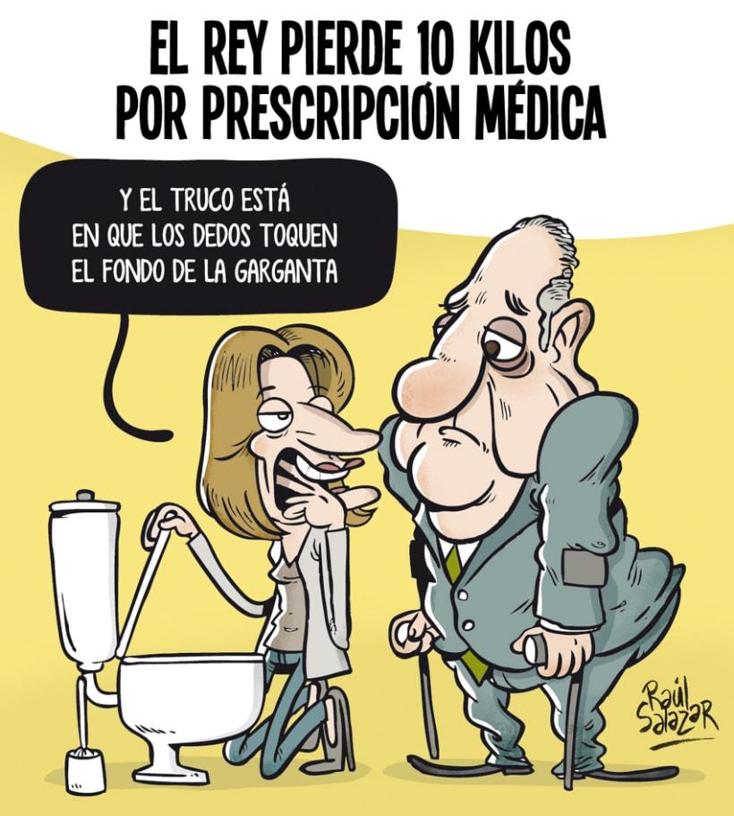 """""""Biba el Rey"""" (humor gráfico) -1"""