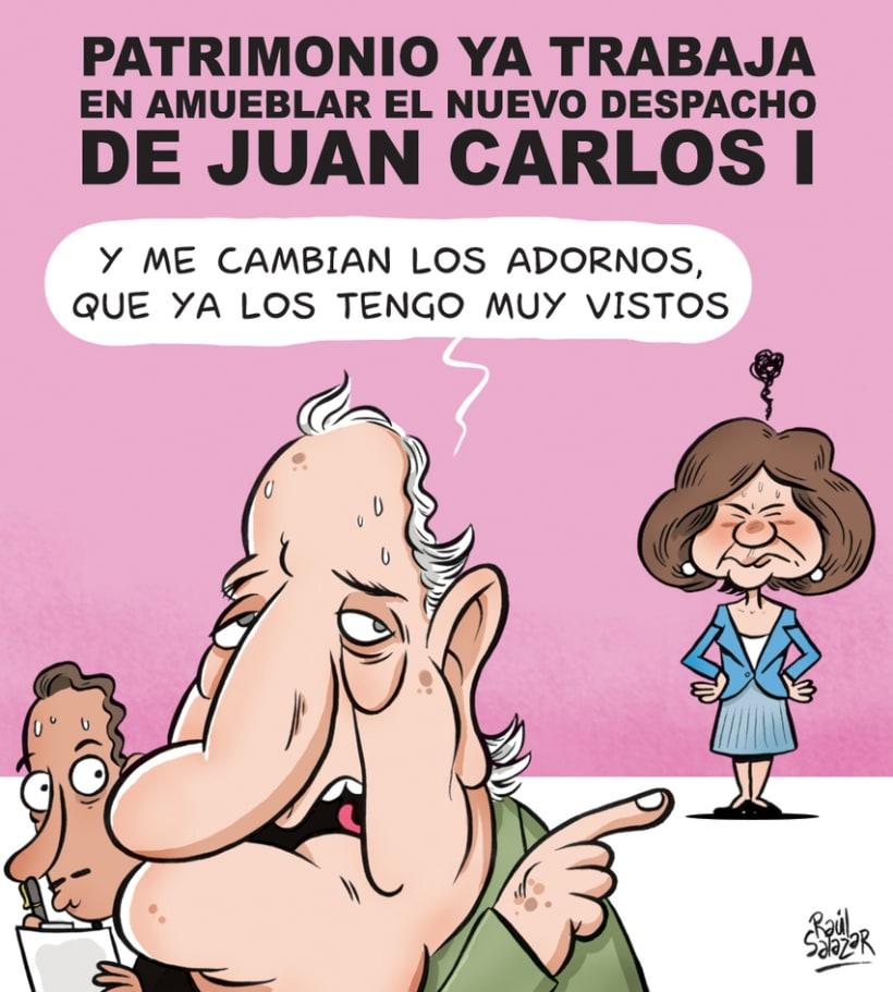 """""""Biba el Rey"""" (humor gráfico) 1"""