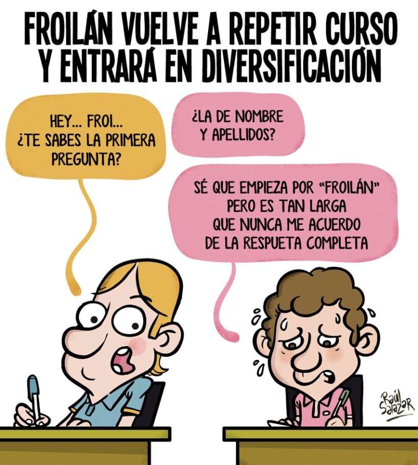 """""""Biba el Rey"""" (humor gráfico) 2"""