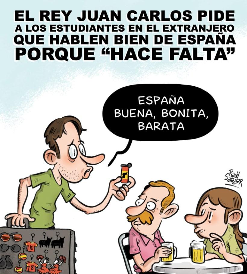 """""""Biba el Rey"""" (humor gráfico) 4"""