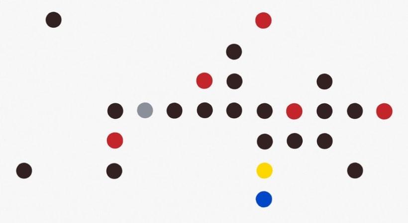 Composición  en rojo, azul, gris, amarillo y negro II -1