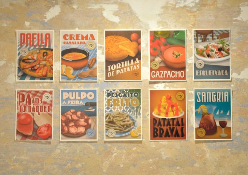 Traditional recipes postcards 2