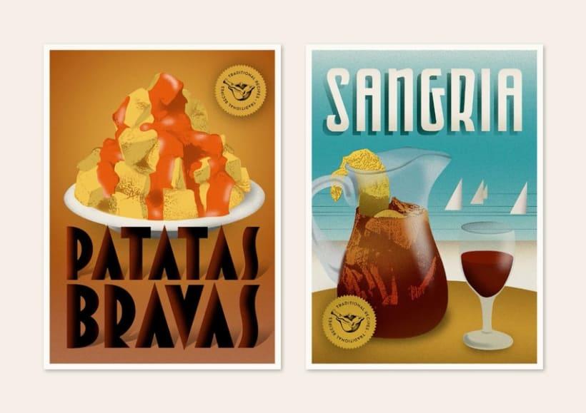 Traditional recipes postcards 5