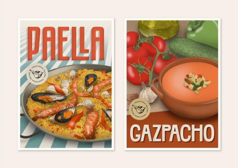 Traditional recipes postcards 7