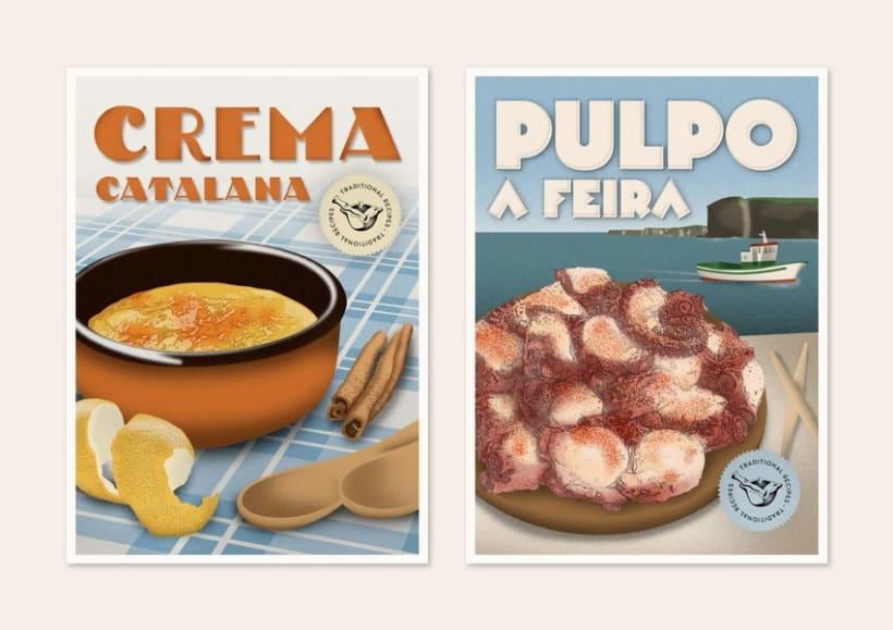 Traditional recipes postcards 8