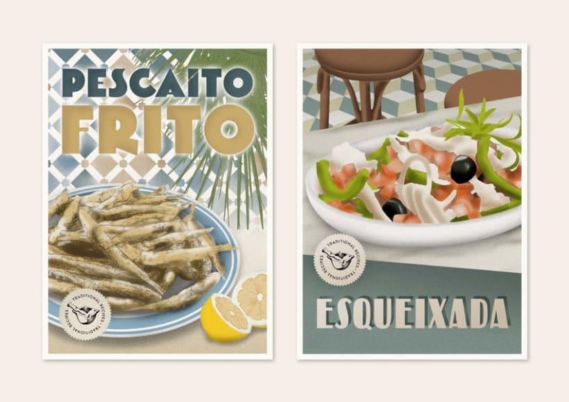 Traditional recipes postcards 9