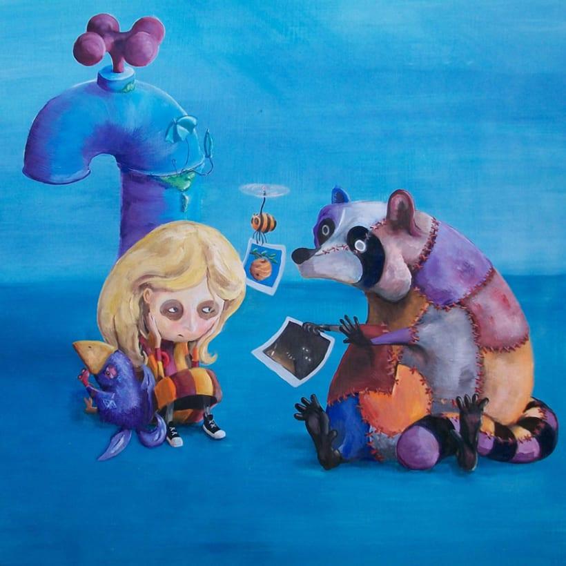 """Al otro lado del mundo"" - libro ilustrado. 2"
