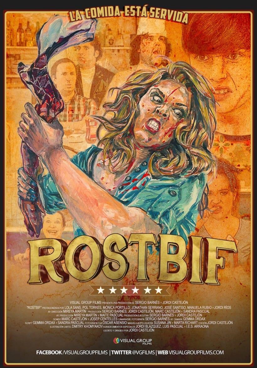 """Cartel para la película """"ROSBIF""""... mucho miedito!!! 1"""