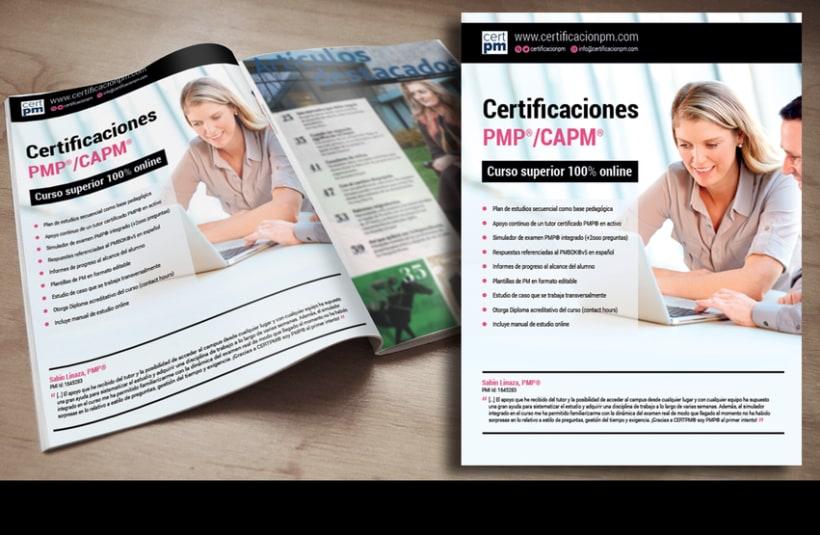 Publicidad Revista. Pmcertification 0