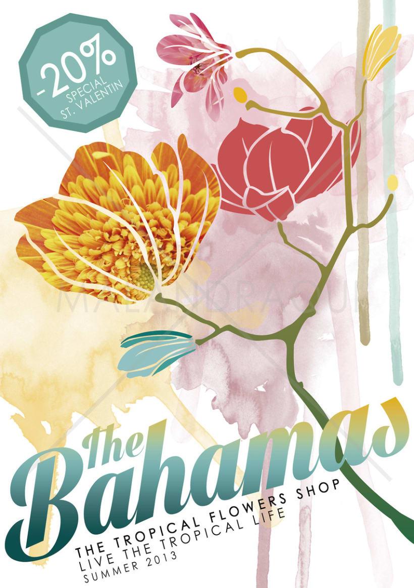 """FLYER Y PORTADA PROMOCIONAL PARA FACEBOOK - """"THE BAHAMAS"""" 0"""