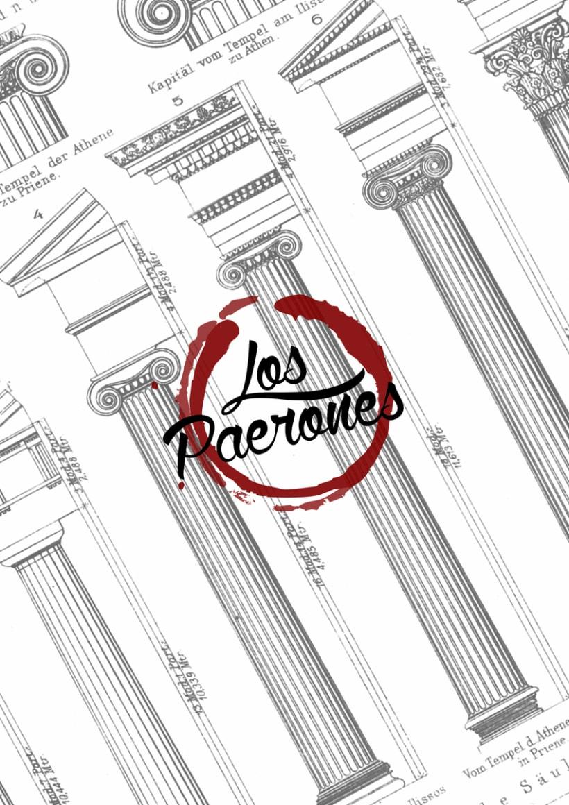 """DISEÑO """"BAR LOS PAERONES"""": LOGO Y CARTA -1"""
