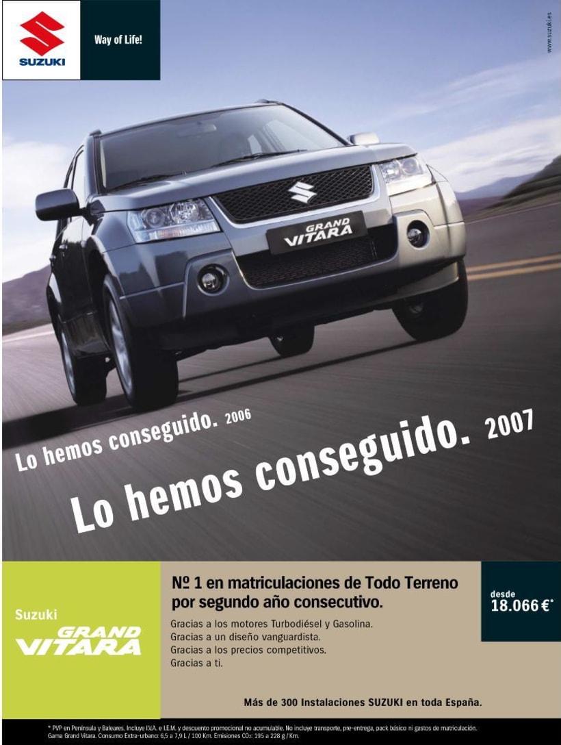 Gráfica Suzuki Grand Vitara (Nº1 Todoterrenos 2006/07). 0