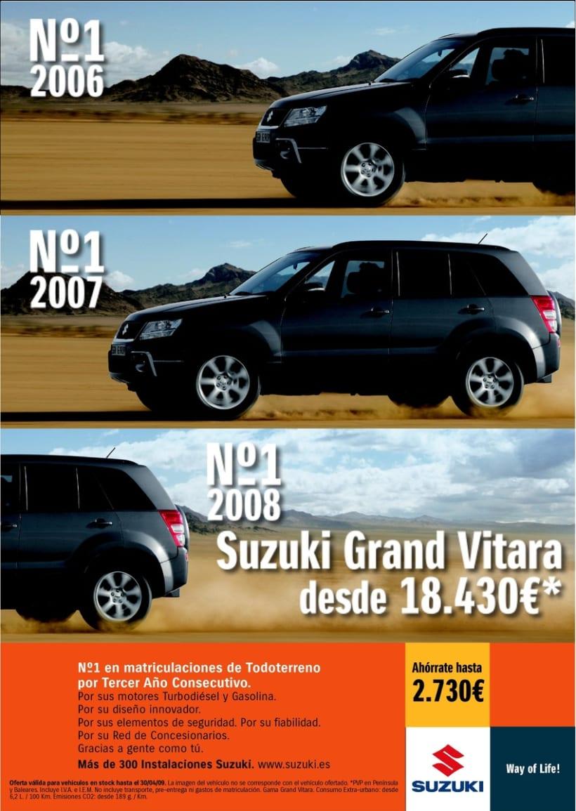 Gráfica Suzuki Grand Vitara (Nº1 Todoterrenos 2006/08). 0
