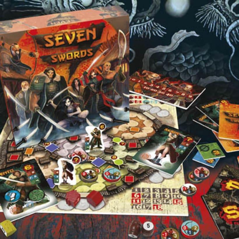 Seven Swords - Diseño y producción de juego de mesa 2