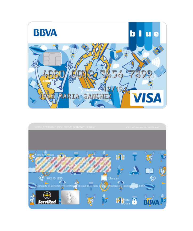 Tarjeta finalista en el concurso Blue BBVA  -1