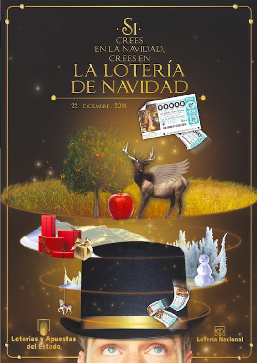 Cartel Lotería Navidad 2014. 0