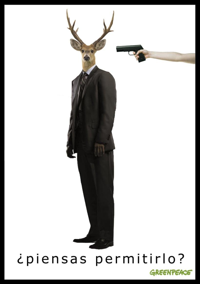 """CARTEL """"no a la caza"""" -1"""
