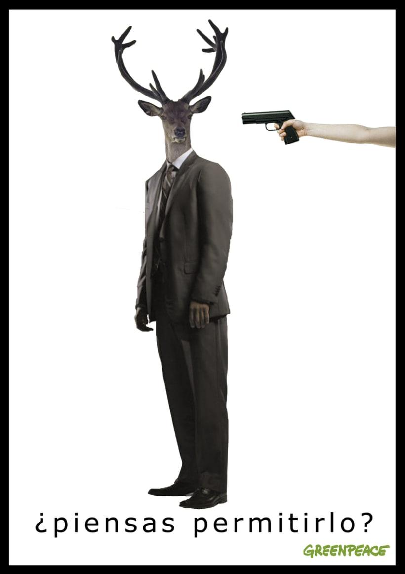"""CARTEL """"no a la caza"""" 0"""
