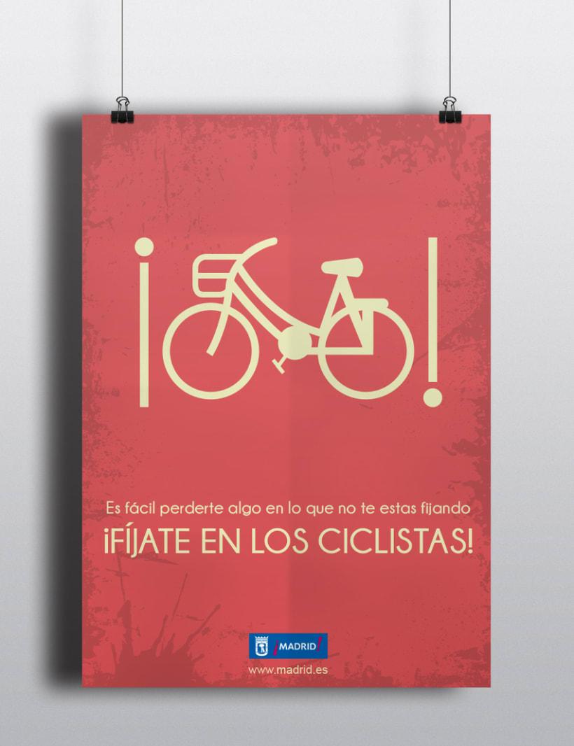 """CARTEL """"concienciación del respeto hacia los ciclistas"""" -1"""
