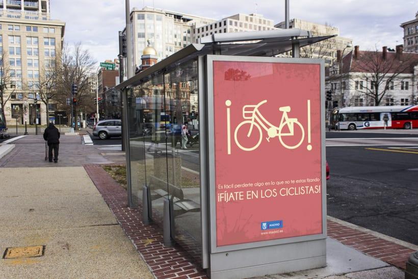 """CARTEL """"concienciación del respeto hacia los ciclistas"""" 0"""