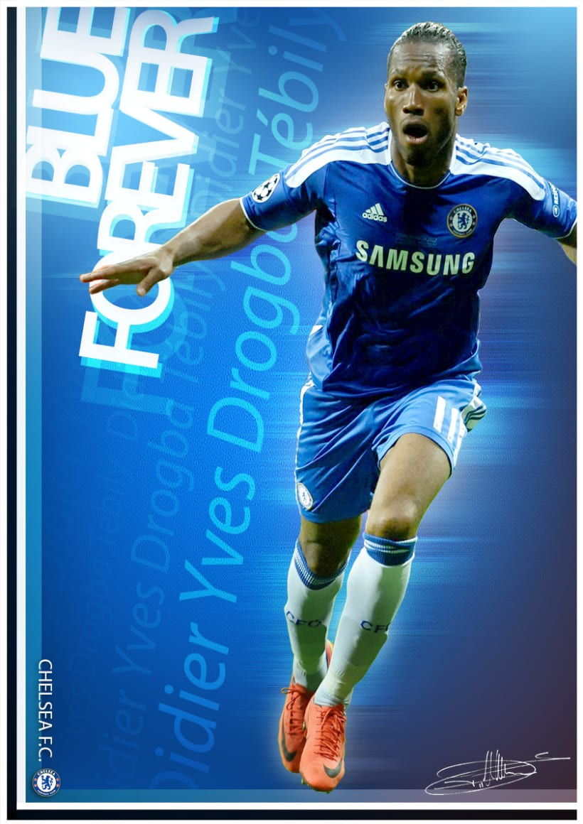 Póster Didier Drogba_ChelseaFC 1