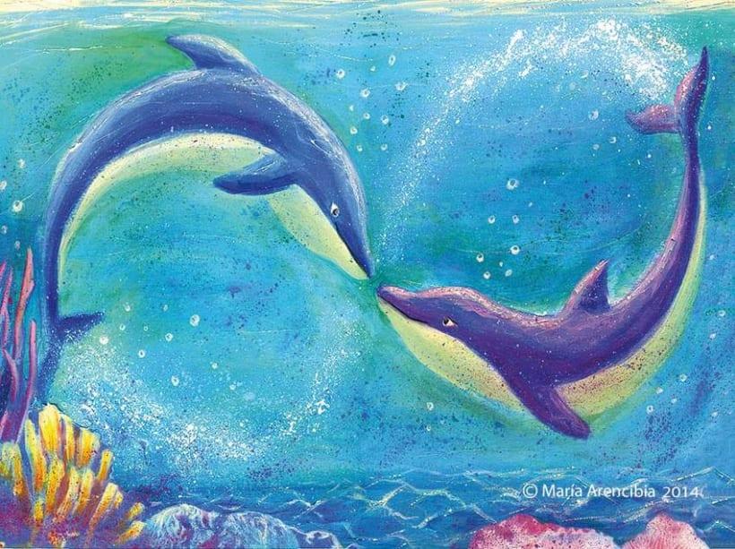 Amor infinito de delfines 0