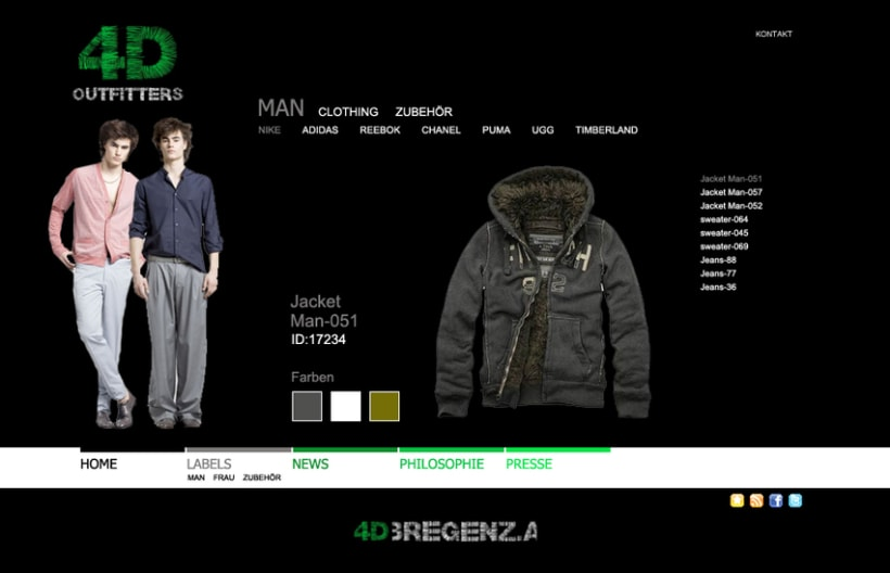 Sitio web 4D Outfitters 4