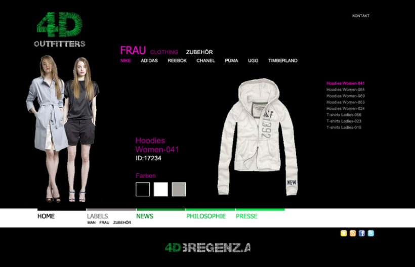 Sitio web 4D Outfitters 5