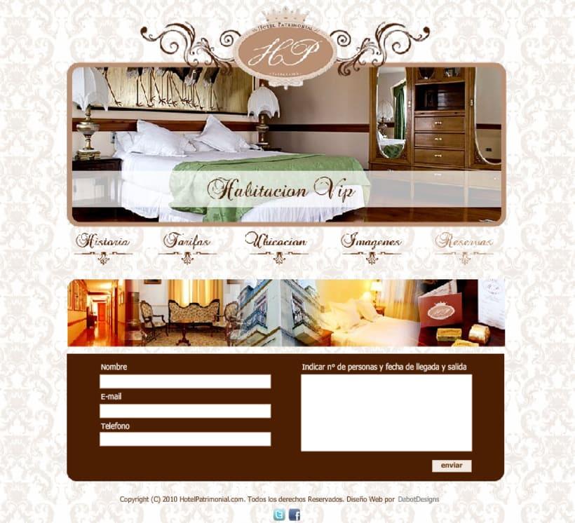 Sitio web Hotel Patrimonial 5